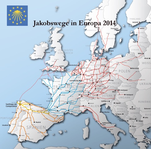 "Copyright ""Jakobuswege e.V."" - Karte: Manfred Zentgraf"